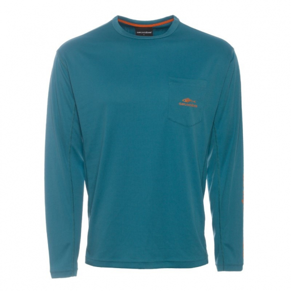 Grundéns Fish Head Long Sleeve Shirt, Tidal Blue in the group Apparel / Sweaters & T-shirts at Sportfiskeprylar.se (40011-453-0013r)